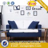 Sofá de cuero Salón Sofá Hotel de madera (HX-8NR2058)