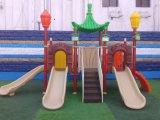 高品質の工場供給の遊園地の住宅のプラスチック屋外の運動場装置