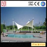 Cortina al aire libre de Sun de la membrana de Streest del toldo de la cortina del jardín de PVDF