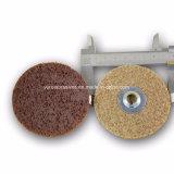 非編まれたナイロンファイバーの磨く車輪のナイロン磨く車輪