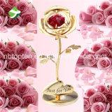 In het groot 24K Gouden nam de Giften van de Dag van de Valentijnskaarten van Bloemen toe