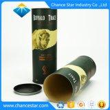 Boîte ronde d'impression personnalisé du papier cadeau vin Round tube en carton
