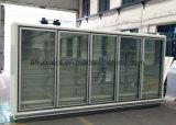 3.75m縦の遠隔Multideckの冷却装置、商業ガラスドア冷却装置