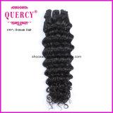 Горячая продажа синтетических выходцев из расширений волос Kinky человеческого волоса удлинитель лампы глубокую волны страсти волосы вьются/Weft добавочный номер
