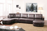 Grande sofà 6014# del cuoio dell'angolo di formato