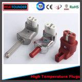 Plugue cerâmico do calefator do conetor do corpo da borracha de silicone
