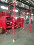 Het poeder bedekte de Rode Steiger van het Frame van de Ladder met een laag