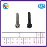 DIN/ANSI/BS/JIS Kohlenstoffstahl-/aus rostfreiem Stahl schwarzes Zink-zylinderförmige Haupthexagon-Maschinen-Schrauben