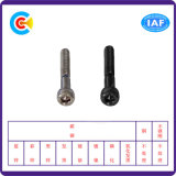 DIN/ANSI/BS/JIS Carbon-Steel/Stainless-Steel zinc negro de cabeza cilíndrica de tornillos hexagonales