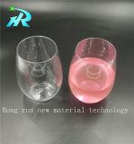 vidros de vinho vermelho de cristal do corte do azul de cobalto 10oz