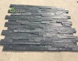 中国の純粋で黒い珪岩の壁の装飾的なボードの刑事棚文化石