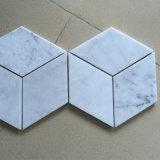 Vente en gros de marbre blanche de tuile de Carrare de décoration d'étage et de mur d'hôtel