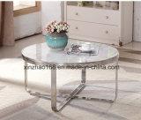유리제 테이블을%s 가진 둥근 유리제 테이블 커피용 탁자