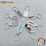 Rectángulo de regalo de promoción de epoxi imprime la etiqueta de llave de metal Llavero