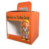 Boîte en carton de empaquetage de cadeau de jouet de bébé