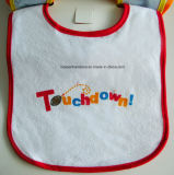 Bavoir personnalisé promotionnel d'usure de bébé de Terry de coton estampé par dessin animé fait sur commande