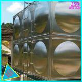 Quadrado do tanque do reservatório de água em aço inoxidável