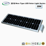 2018 New Type All-in-One Solar LED Garden Light 20W