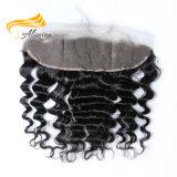 Frontal cru do laço do cabelo humano de Remy do cabelo humano de 100%