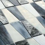 ハンドメイドの正方形の白黒ステンドグラスのモザイク・タイル