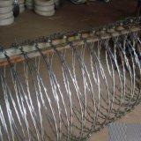 電気電流を通されたかみそりの有刺鉄線