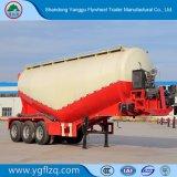 V-Shapeの半中国Factroyの価格3の車軸40m3-70m3タンカーの大きさのセメントの粉タンクトレーラー