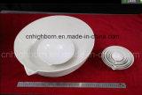Bandeja de evaporação cerâmica da bacia da porcelana com mão ou sem mão