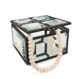 De moderne Doos van de Juwelen van het Glas van de Luxe van Ornamenten