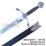 A decoração de espadas medievais espadas cruzadas espadas 107cm HK81028cu