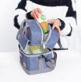 مزدوجة ظهر مركب ألومنيوم يعزل وجبة غداء حقيبة مبرّد حقيبة حرارة يحمي حقائب