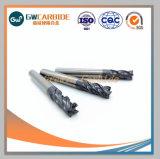 2/4 flûtes HRC Carbure de tungstène45-70 solide bout carré Mills