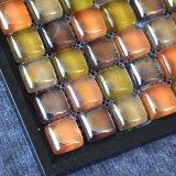 Los diseños de fácil hechas a mano el cuarto de baño de color naranja Mosaico de vidrio