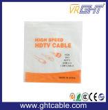 Plaqué or avec Tressage nylon HDMI haute vitesse, 1080P 2160P