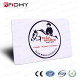 Cartão de papel dobrado do bilhete de RFID para o parque de diversões