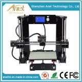 Máquina rápida da prototipificação da impressora de Anet A6 Digitas 3D com indicador de diodo emissor de luz