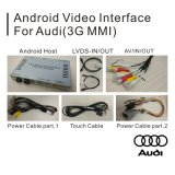Interfaccia di percorso Android di GPS dell'automobile video per Audi A6l/Q7/A8/A4l/A5/A1/Q3 (3GMMI)