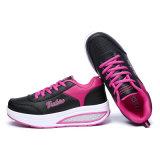 Chaussures légères roses de sports d'entraîneurs de forme physique de dames pour l'unité centrale