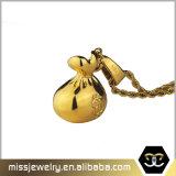 Nuovo pendente del sacchetto dei soldi dell'oro di Hip Hop di disegno per gli uomini Mjhp132