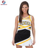 New Fashion Customized Printing Cheer Black and Yellow Colorful measuring Cheerleading uniform Youth