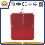 4개의 쟁반 (HB-3215)를 가진 빨간 전송 메이크업 상자