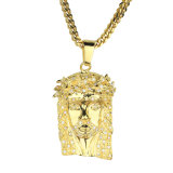 Doubai Gouden Hip Hop Jesus Pendant Necklace Designs Men Mjhp082
