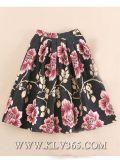 Dernière conception de la jupe des femmes Mesdames fashion imprimé floral longue jupe maxi