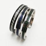 Armband van de Vezel van de Koolstof van de Armband van de Juwelen van de Manier van het kostuum de Zilveren