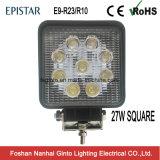 27W approvati l'AR 4inch LED quadrato funzionano l'indicatore luminoso per fuori strada (GT1007-27W)