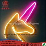 Luz de néon acrílica de suspensão da noite do sinal do unicórnio de Decoartion do Natal da iluminação do diodo emissor de luz