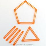 Poligonale connettere i rifornimenti educativi del giocattolo per per la matematica dei bambini