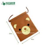 Commerce de gros ours charmant de style simple de personnaliser Pattern poche non tissé / Sac avec lacet de serrage