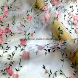 Il tessuto del Organza del poliestere con ricama per i vestiti da cerimonia nuziale