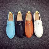 Ботинки PU светлых удобных ботинок людей вскользь кожаный гуляя управляющ ежедневными ботинками износа