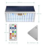 IP65는 옥외 정원 빛 76 LED 마이크로파 레이다 센서 태양 램프를 방수 처리한다